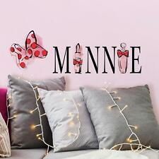 MINNIE MOUSE PERFUME AND LIPSTICK WALL DECALS Girls Removable Disney Stickers