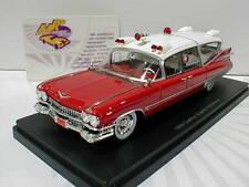 """NEO 45260 # Cadillac Superior """" Ambulance """" Baujahr 1959 in rot-weiß 1:43 NEU"""