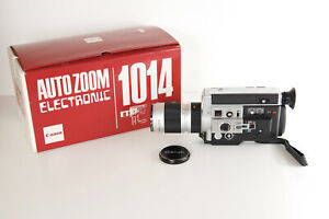 Canon Auto Zoom 1014 Electronic Super 8 Camera, Box,WORKING ,Video on YouTube,