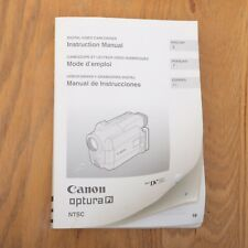 Canon Optura Pi MiniDV Video Camera Instruction Manual