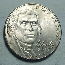 2017-D Jefferson Nickel Die Deterioration Doubling on Liberty & Date Error Coin