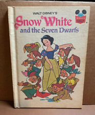 1973 Walt Disney's SNOW WHITE AND THE SEVEN DWARFS Book/Hardcover (A4)-2