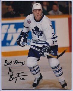 Autographed Ken Baumgartner Toronto Maple Leafs Photo