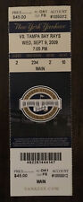 DEREK JETER Ties GEHRIG Yankees Hit Record Ticket Sept 9, 2009 Great Condition