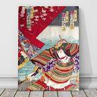 "Japanese Kabuki Art CANVAS PRINT 16x12"" Warrior ~ Kunichika #13"