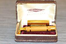 Vintage Gillette Aristocrat Three Piece Safety Razor Original Box.
