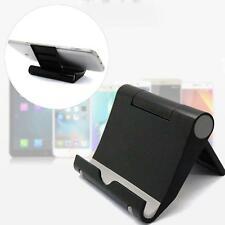 1x Multi-Angle Portable Desk Stand Holder Mount For Apple iPad, Samsung Black BA