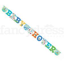 GRANDE JUMBO Baby Shower Banner Blu Bambino 8 piedi 3 METRI PARTY ACCESSORIO NUOVO