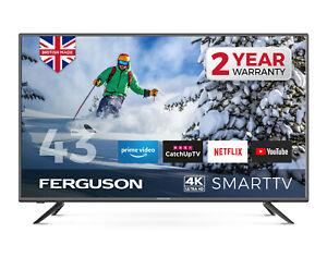 "FERGUSON 43"" inch LED SMART TV 4K ULTRA HD  FREEVIEW HD WiFi 3 HDMI USB NEW"