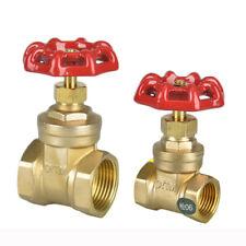 """1/2"""" 3/4"""" 1"""" Brass Female Thread Gate Valve Water Oil Gas Pipe Shut-Off  Valve"""