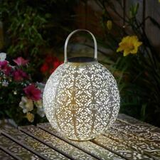 Damasque Cream Outdoor Garden Solar Lantern|hanging or Tabletop Lantern