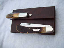 1990 ABCA Club Set Case XXX  USA  Saddlehorn Greenbone & Genuine Stag New