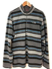 NORTH FACE TKA 100 Gray Striped 1/4 Zip Mid-Weight Fleece Pullover/Jacket XL
