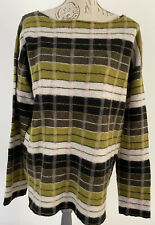 MARNI  Oversize Green Checked  Wool Long Sleeves sweater IT48 BNWT