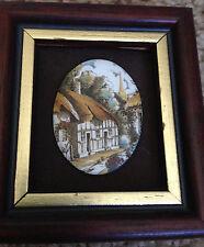 Pat Collins Vitreous Enamelling On Copper Miniature Cottage