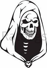 Grim Reaper gráfico de cráneo Pegatina 50 cm X 34 cm todos los colores Vinilo Calcomanía-cráneo 062