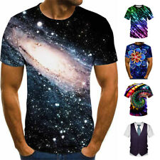 3D Hypnosis.tie-dye Estampado Hombre Mujer Casual Camiseta Manga Corta Tops