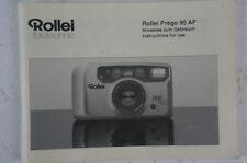 Rollei Prego 90 AF Bedienungsanleitung deutsch B2703