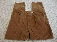 Women's ST. JOHN'S BAY brown stretch corduroy pants, 8p  8