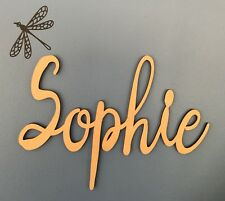 Kids Letters Wooden Name Sign Baby Nursery Raw Unpainted