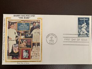 US FDC #2046 Babe Ruth Baseball Limited Edition Silk Color Cachet