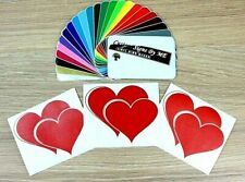 3x Double Hearts Wedding Valentine's Day Stickers Vinyl Decals Adhesive Wall Art