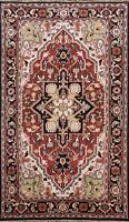 5'x8' Hand-knotted Geometric Indo Heriz Oriental Area Rug Classic Kitchen Carpet