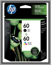 HP 60 Black & 60 Tri-Color inK, Deskjet D1660,D2530,D2545,D2560,D2660, New !!!