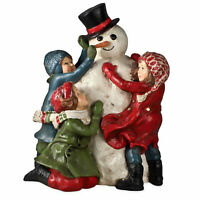 Bethany Lowe Building A Snowman Children Christmas Figurine Retro Vntg Decor