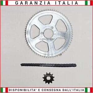 Kit Trasmissione per Monopattino Elettrico Catena Corona Pignone Maglia Grande