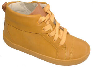 BNIB Clarks Kids City Jungle Yellow Leather Boots