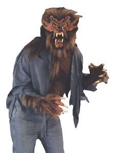 Wolf Shirt Werewolf Beast Chest Halloween Adult Brown Costume Plush