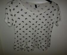 H&M peplum t-shirt top bow