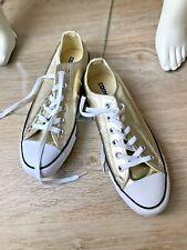 """* CONVERSE ALL STAR * Modische Sneaker Chucks """" GOLD """" Low Top Gr. 39,5"""