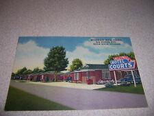 1940s BELLEWOOD HOTEL COURTS BATON ROUGE LA. LINEN POSTCARD