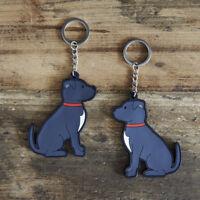 STAFFIE Keyring, Novelty Gift, PVC Dog Key Ring, Bag Charm, Secret Santa FREEP&P