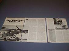 VINTAGE..PA-18 SUPER CUB..STORY/PHOTOS/DETAILS/SPECS..RARE! (957N)
