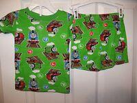 Thomas The Train & Friends Green Short 2 Piece Pajama PJ  Set Boys Size 3T #99