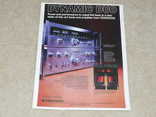 Kenwood KA-7300 Amplifier Ad, KT-7300 Tuner, Article, 1 page, 1976