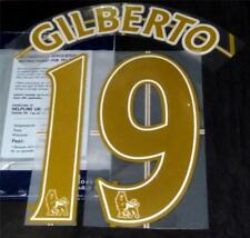 Arsenal Gilberto 19 Name/Number Set Football Shirt Lextra 07/08 Sporting ID Away