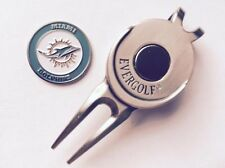 Nfl Miami Dolphins Golf Ball Marker and Magnetic Divot Tool