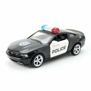 1:43 Ford Mustang Police Model Car Diecast Gift Toy Vehicle Pull Back Kids Black
