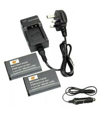 DSTE® 2x NP-BX1 Rechargeable Li-ion Battery + DC134U Travel Car Charger SALE UK
