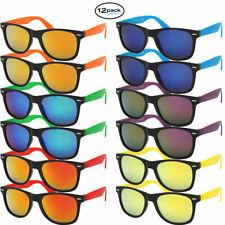 Sunglass Bulk Mens Womens Wayfare Style 12 Pack Assorted Colors Wholesale Lot