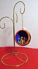 "Holy Family Jesus Christmas Nativity Scene Ornament Peru Folk Art Decor 2 1/2"""