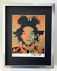 ANDY WARHOL + RARE 1984 SIGNED BASQUIAT PRINT MATTED TO BE FRAMED 11X14