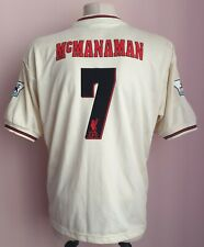 Liverpool 1996 - 1997 Away football Reebok shirt #7 MacManaman