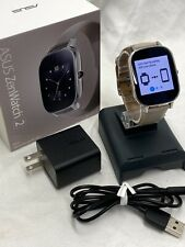 Excellent ASUS ZenWatch 2 Smart watch WI502Q Silver Case Genuine Leather Band