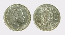 pci4568) Netherlands  Juliana -  2 + 1/2 gulden  1961 silver