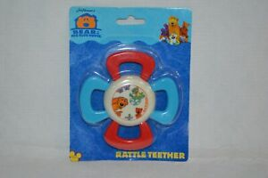 NEW Bear In The Big Blue House Baby Rattle Teether Jim Henson Muppets Disney Jr
